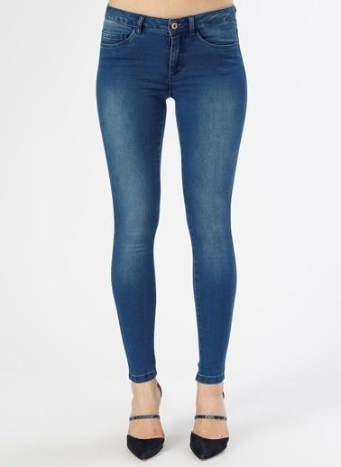 Only Only  Skinny İndigo    Denim Pantolon Renksiz